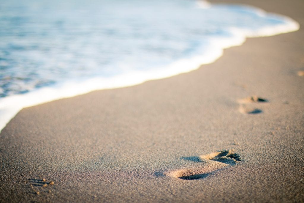 The health benefits of walking barefoot on the beach
