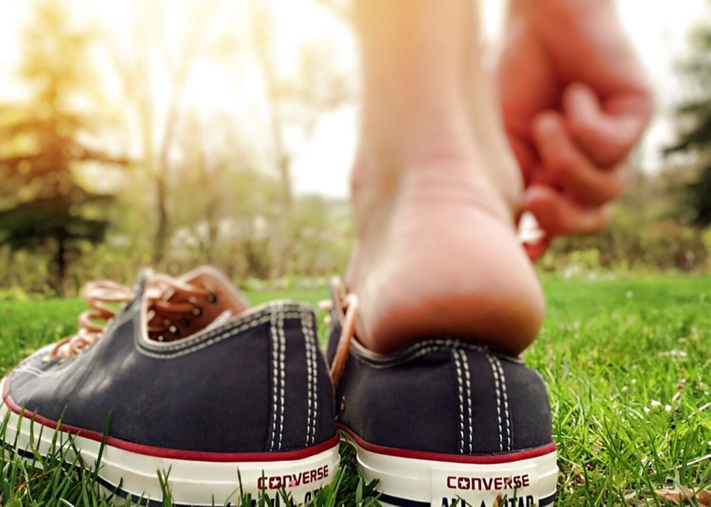 take your shoes off to experience grounding
